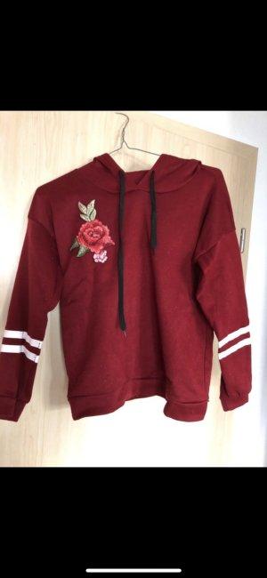 Jersey con capucha rojo oscuro