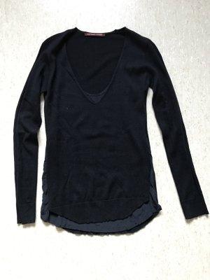 Schöner Pullover mit Seiden-Unterhemd in dunkelblau von Comptoir des Cotonniers