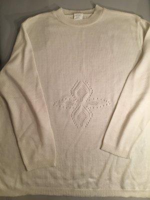 Schöner Pullover mit Stickerei, Gr. 52, wie NEU