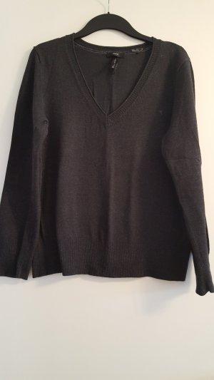 Schöner Pullover mit V-Ausschnitt, Zero, dunkelgrau, Gr. 44
