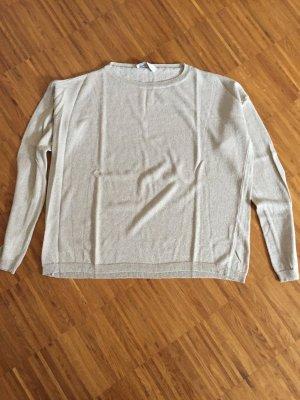 schöner Pullover, neu von Le Streghe, beige- glitzernd, Onesize
