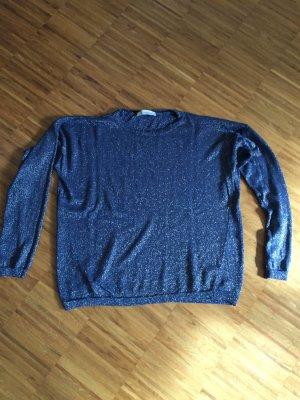 schöner Pullover, neu von Le Streghe, blau- glitzernd, Onesize