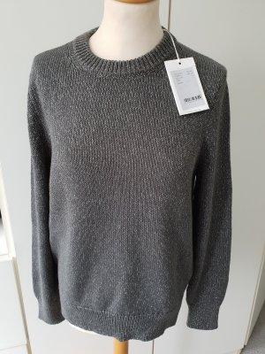 Closed Sweater zilver-groen-grijs