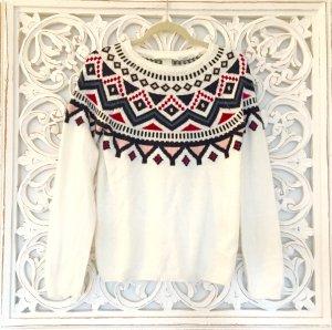 schöner Pullover von H&M L.O.G.G. mit Jacquardmuster * Gr. S 36 * NEU!