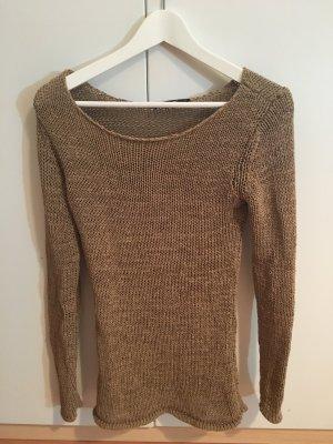 schöner Pullover von Hallhuber, beige/gold