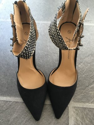 Primark Pumps black-silver-colored