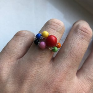 Six Statement Ring multicolored synthetic material