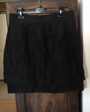 H&M Broomstick Skirt black-dark blue