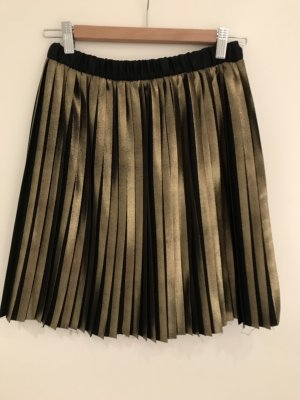 Vicolo Plaid Skirt black-gold-colored
