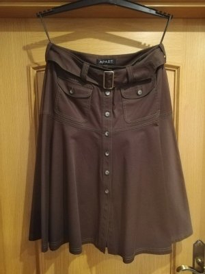 Apart Midi Skirt dark brown