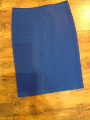 Armani Collezioni Jupe en laine bleu acier tissu mixte