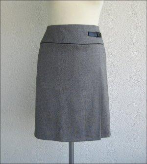 Betty Barclay Jupe portefeuille gris-blanc tissu mixte