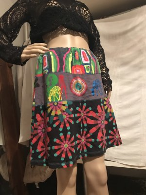 Desigual Falda midi multicolor