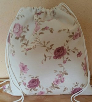 Canvas Bag pink-natural white
