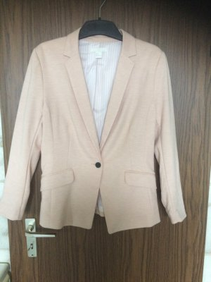 H&M Sweat Blazer pink-white