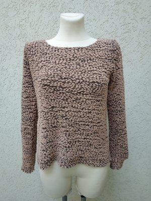 Schöner rosafarbener grauer Pullover von one love, Gr S