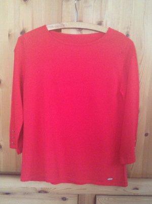 Schöner roter Sommerpullover More & More, Größe S, aus angenehmer kühler Baumwolle
