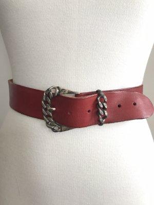 Schöner roter Vintage-Gürtel * Echtleder