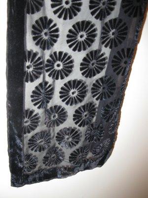 Foulard en soie noir