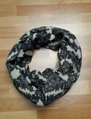 schöner Schal in beige- schwarz