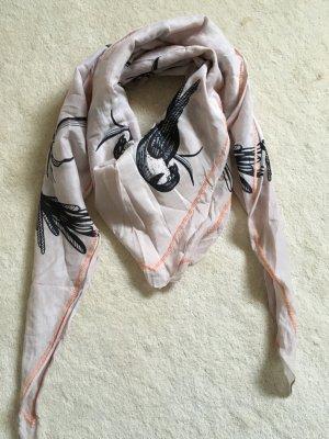 Schöner Schal in rosé mit Vogel Print