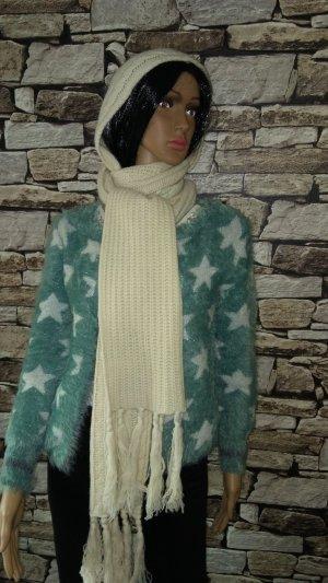 H&M Sjaal met franjes wolwit-licht beige