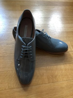 Drievholt Wingtip Shoes grey-light grey leather