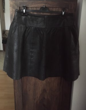 Schöner schwarzer Lederrock von ESPRIT
