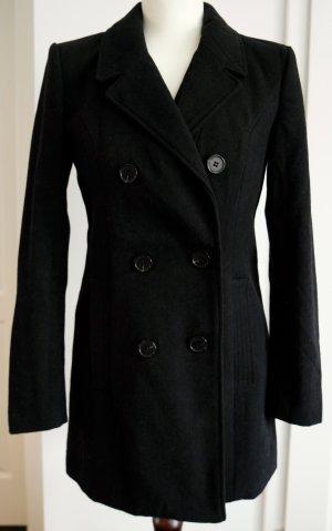 Schöner schwarzer taillierter Mantel Gr. S