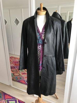 Cabrini Abrigo de cuero negro Cuero