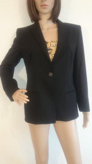 Schöner schwarzer Windsor-Blazer * Einknopf * klassisch und edel * mit Seide