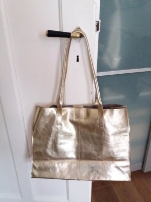 Asos Shopper gold-colored leather