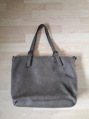 Schöner Shopper Tasche Kunstleder braun