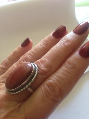 Silver Ring silver-colored-apricot