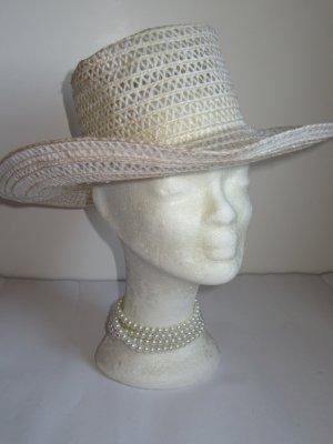 Vintage Cappello parasole giallo pallido