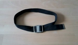 Zero Fabric Belt silver-colored-dark brown