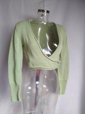 Gin Tonic Knitted Bolero pale green-mint cotton