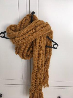 Accessorize Écharpe en tricot orange doré-brun