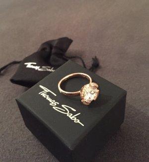 Schöner Thomas Sabo Ring, roségold mit großem Stein, NEU!!