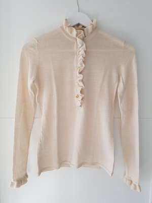 Tory Burch Jersey de lana blanco puro-crema