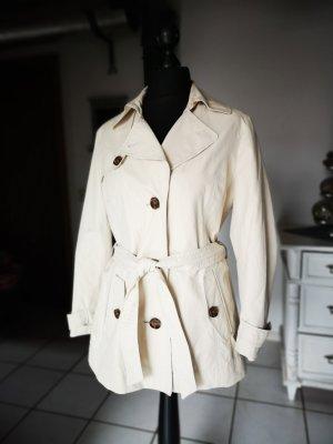 Schöner Trenchcoat von Gil Bret Gr 42 Creme Trench Coat Mantel Frühling Creme Jacke Kurzmantel