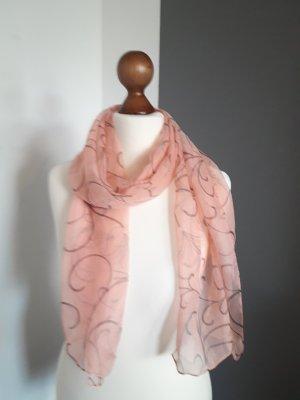 Schöner True Vintage Schal Tuch in rosa rosé mit Muster