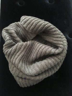 H&M Bufanda tubo marrón grisáceo-marrón claro Acrílico