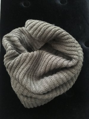 H&M Tubesjaal grijs-bruin-lichtbruin Acryl