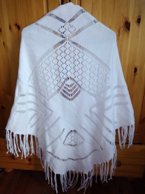 Naf naf Knitted Wrap Cardigan white cotton