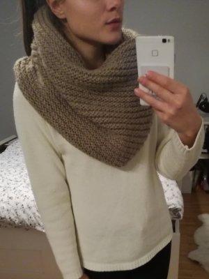 Bufanda tubo beige-camel