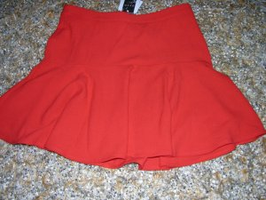 Flounce Skirt bright red