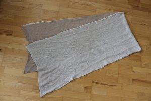 Schöner warmer, handgemachter Wende-Schal aus Wolle, beige, braun - wie NEU