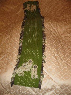 Schöner warmer Wollschal in Grün aus Frankreich in Premium Qualität, wie neu