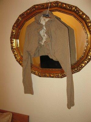 Schöner weiblicher Wollmix -Bolero in Kamel-beige, Made in Italy